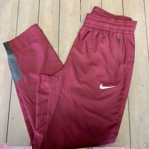 Mens Nike Basketball DriFit Maroon Burgundy Sweats